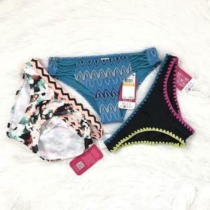 Bikini Bottom 3 Wholesale Hula Honey Small (Set B)